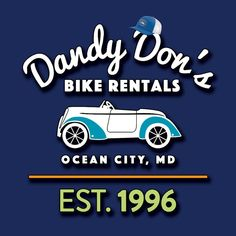 Dandy Don's Bike Rentals has been family owned and operated since We are located at street and the boardwalk under the Howard Johnson Hotel. Howard Johnson Hotel, Crab Shack, Ocean City Md, Social Media Site, Dandy, Coupons, Bike, Cool Stuff, Bicycle
