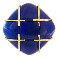 For Sale on - In this ring created by Valentin Magro, gold accents blue. The featured jewel is blue agate, fashioned into a square cushion cabochon. Gold Diamond Rings, Diamond Bands, Square Wedding Rings, Agate Ring, One Ring, Cocktail Rings, Criss Cross, A Team, Fashion Rings