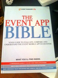 The Event App Bible - a book for professionals in the event planning industry, offered in print via Peecho!