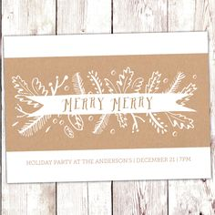 Merry Merry Holiday Invite   2014 Holiday Collection #InkCards