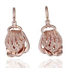 Swarovski Earring Rose Gold