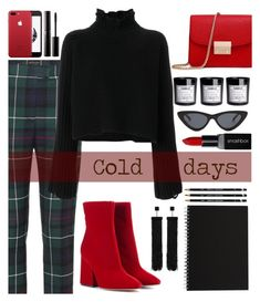 """Untitled #151"" by kell-a ❤ liked on Polyvore featuring Burberry, Maison Margiela, Golden Goose, Tom Ford, H&M, Surratt, Le Specs and Smashbox"