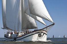 Tweemast #klipper de Hannus op het Wad. #klipper #Waddenzee Dutch Barge, Paddle, Sailing Ships, Seaside, Nautical, Coastal, Boat, Water, Image