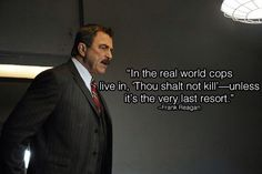 15 Powerful Frank Reagan Quotes From Season 5 - Page 12 . Jamie Reagan, Blue Bloods Tv Show, Jesse Stone, Police Quotes, Police Family, Tom Selleck, Family Show, Braveheart, Tv Quotes