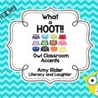 Adorable Owl Accents for your classroom!   This EDITABLE accent pack includes:  Look Whooooo's In  __(grade level)___ Classroom Printable/Wall Art ...