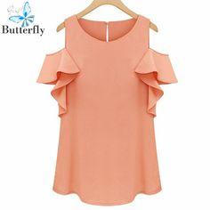 c3eabfbb1f Mulheres blusas de Chiffon camisa sem mangas peplum blusas casual o BG-2715  Blusa De