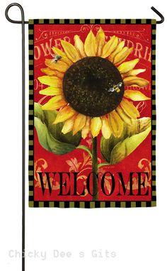 Evergreen Sun Flower Garden Flag 14s3492bl NEW Autumn