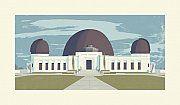 "Chris+Turnham+Eastside+LA+Griffith+Observatory+Open+Edition+Print+UNFRAMED+11""x17"""