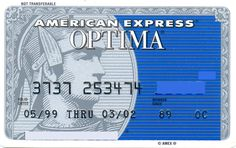American Express OPTIMA Blue (American Express, United States of America) Col:US-AE-0121