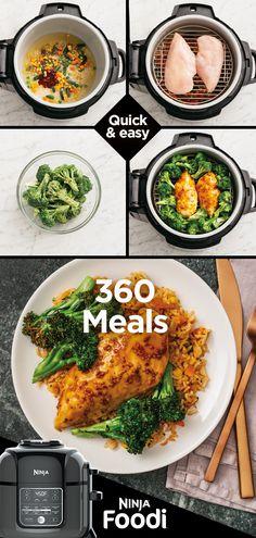 Ninja® Foodi™— the pressure cooker that crisps™ Grilling Recipes, Crockpot Recipes, Cooking Recipes, Healthy Recipes, Keto Recipes, Ninja Cooking System, Ninja Kitchen, Ninja Recipes, Instant Pot Dinner Recipes