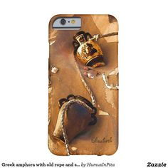 Greek amphora with old rope and seashells case barely there iPhone 6 case