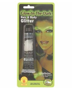Glow-in-the-dark Hair & Body Glitter - Makeup Basics