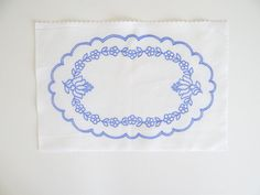 Kalocsa oval doily pattern print from Hungary New 10.5'' x 6.5 '' DIY u in Collectibles, Linens & Textiles (1930-Now), Lace, Crochet & Doilies | eBay