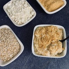 A delicious bowl of peach cobbler protein oatmeal with added volume via cauliflower rice to keep you full for hours. If you need breakfast in a hurry, these proats are the ticket. Salted Caramel Cheesecake, Snickers Protein, Oatmeal Cupcakes, Biscoff Cookie Butter, Sugar Free Pudding, Protein Oatmeal, Powder Recipe, Salty Cake