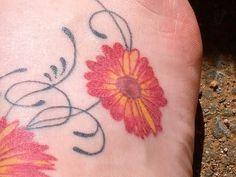 Beautiful Daisy Flower Tattoo