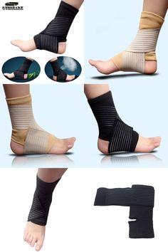[Visit to Buy] Sports Ankle Support Football Basketball Taekwondo Badminton Sport Protection Bandage Elastic Ankle Sprain Brace Guard Protector #Advertisement