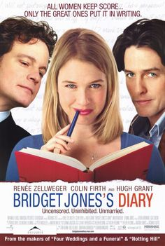 """Bridget Jones Diary ~ love both of these movies (and I hear there's going to be a 3rd!)  Funny, sweet and lovable; and the funniest """"fight' scenes ever.  Also... Colin Firth, Colin Firth, Colin Firth..."""