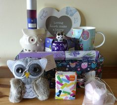Beautiful Owl Lovers Vintage Style Gift Pamper Hamper Suitcase Mum Nana Aunt L in Home, Furniture & DIY, Celebrations & Occasions, Other Celebrations & Occasions | eBay