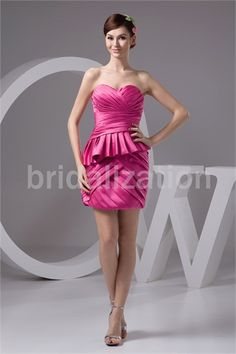 Short/ Mini Satin Sweetheart Plus Sizes Special Occasion Dresses