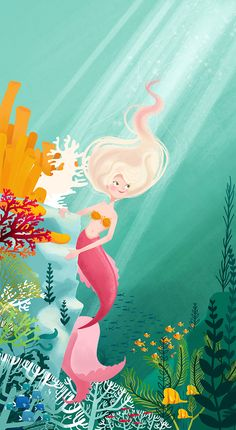 The Little Mermaid - Illustrated Fairytales on Behance