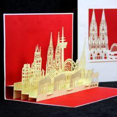 POP UP Karte Köln Skyline 2 #popupkarte #cologne cards #kölnerdom