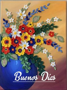 Flower Vases, Flower Pots, Acrylic Painting Canvas, Canvas Art, Pastel Color Background, Crochet Wall Art, Paper Birds, Mixed Media Artwork, Bright Flowers