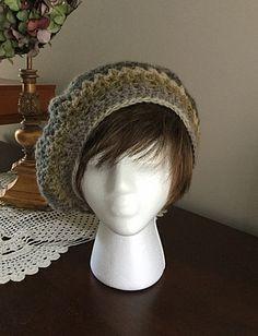 Hat, Crochet hat, Slouchy Crochet Beanie, green crochet hat by OnceUponARoll, $18.00 USD