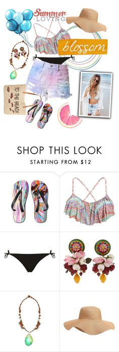 """""""Summer Loving : Bikini $20"""" by yoanaxoxo ❤ liked on Polyvore featuring Topshop, Dolce&Gabbana, Disney, Old Navy and Style & Co."""