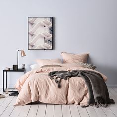 Rich in texture with a soft blush finish, the Villa quilt cover features a unique, cotton matelasse weave and is finished with a tailored edge. This delicate design is inspired by tile patterns and offers a soft and inviting look, perfect for a classic approach to bedroom styling.