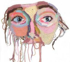 Crochet mask: Jordan Gray, in progress, by Jo Hamilton. via Design for Mankind