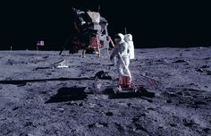 NASA PHOTO:  AS11-40-5949.  REMASTERED by Dan Beaumont. NASA INFO:   (20 July 1969) --- The deployment of the Early Apollo Scientific Experiments Package (EASEP) is photographed by astronaut Neil A. Armstrong, Apollo 11 commander, during the crew extravehicular activity (EVA). Here, astronaut Edwin E. Aldrin Jr., lunar module pilot, is deploying the Passive Seismic Experiments Package (PSEP). Already deployed is the Laser Ranging Retro-Reflector (LR-3), which can be seen to the left and…