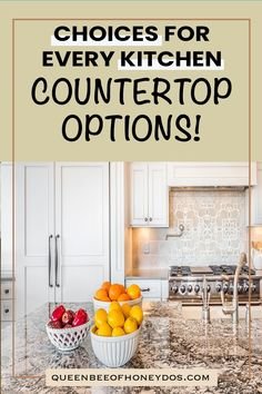 Before you build or remodel, check out all the option available for countertops! #renovations #kitchens #remodel #granite #quartz #marble #trends #ideas Diy Kitchen Projects, Diy Kitchen Decor, Kitchen Upgrades, Kitchen Ideas, Countertop Options, Wood Countertops, Big Kitchen, Kitchen Dining, Leather Granite