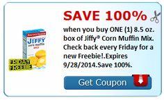Savingstar: HOY GRATIS Jiffi Corn Muffin Mix 8.5oz!