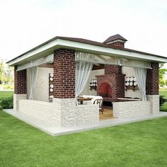 Backyard Pavilion, Casa Patio, Outdoor Pavilion, Backyard Gazebo, Backyard Patio Designs, Outdoor Pergola, Backyard Landscaping, Outdoor Living Rooms, Outdoor Spaces
