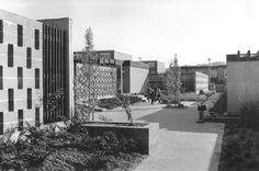 Wohnstadt (1959-70), urbanistic planning for 200,000 inhabitants, in Überherrn, Germany, by Karl Hanus