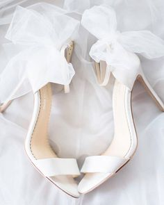 Joy Proctor for Bella Belle, Beautiful Shoes for the Modern Bride ~ Elise Bow Tulle Heels