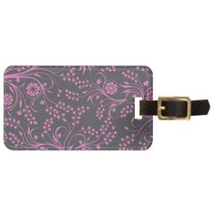 Pretty Purple Floral Vine Tags For Bags