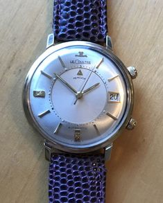 All Original! 14K GOLD Jaeger Lecoultre Automatic Memovox Wrist Alarm