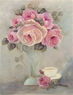 Rose Tea Cup Print