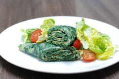 Fotorecept: Špenátová omeleta s medvedím cesnakom