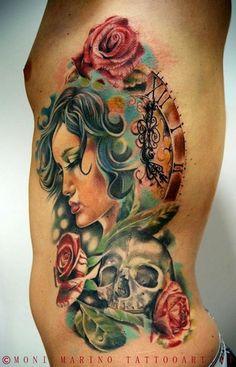 Tattoo done by Moni Marino.