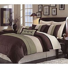 @Overstock - Dreams don't get any sweeter, deeper or more alluring than they do with the right bedding. This comforter set is not only a lovely addition to your decor, but it will ensure the best quality of rest.http://www.overstock.com/Bedding-Bath/Handcrafted-Green-Pintuck-8-piece-Comforter-Set/6310730/product.html?CID=214117 $69.99
