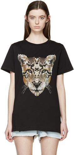 Marcelo Burlon County of Milan: Black Guadalupe T-Shirt | SSENSE