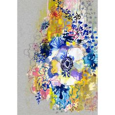 Blue anemone limited edition print | hardtofind.