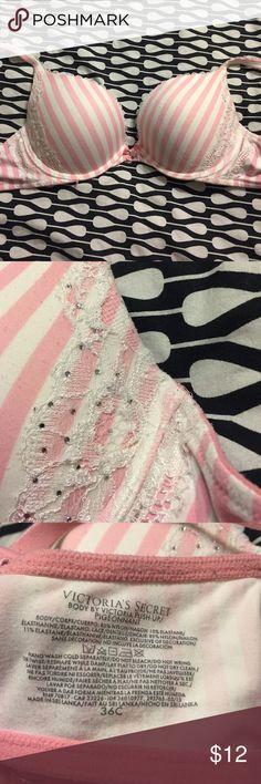 VS push up bra VS push-up bra with lace and rhinestone detail. Victoria's Secret Intimates & Sleepwear Bras