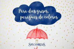 ¡A sacar nuestros paraguas! #frase #lluvia #quote