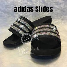 various colors 4ef35 09964 Swarovski adida Slides, Bling Slides, Bedazzled, Adilette Cloudfoam Ultra,  Custom, adidas