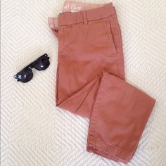 Jcrew cropped ankle pants Rust orange color and in great condition! Add some navy blue stripped shirt or a white tee to complete the look. J. Crew Pants Ankle & Cropped