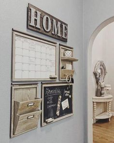 Build your own daily system components - Livingston Gray - # . Build your own daily system components - Livingston Gray - # . Apartment ♥ ️ build your own daily system components - Livingston Gray . Livingston, Home Command Center, Command Centers, Apartment Decoration, Rustic Apartment Decor, Apartment Kitchen Decorating, Kitchen Decor Themes, Farm Kitchen Decor, Apartment Living