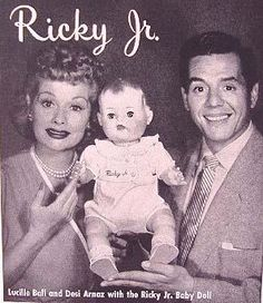 While I have a lot of I Love Lucy and Lucille Ball collectibles, both vintage and new, this is the Holy Grail, the Ricky Jr. Doll by American Character Dolls, released in 1954